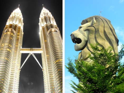 Then towers and trees! Oh and the lion!