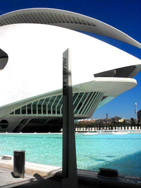 Back of the El Palau de les Arts Reina Sofía