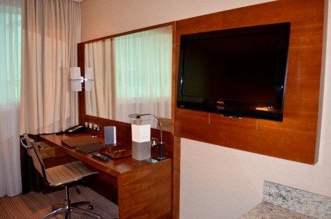 Getting a £133 per night hotel for free was a perk at least...