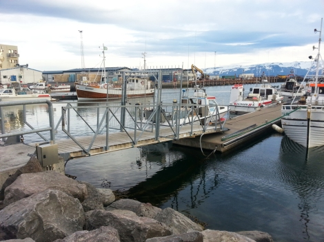 The harbour in Húsavík