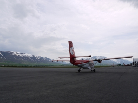 The rather 'rustic' airport in Akureyri