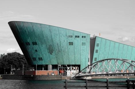 The uniquely shaped Nemo Museum