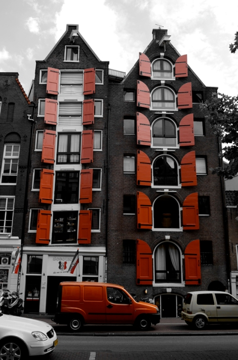 Shutters on some typically Dutch buildings...