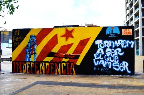 Catalan Graffiti on Avinguda Paral·lel