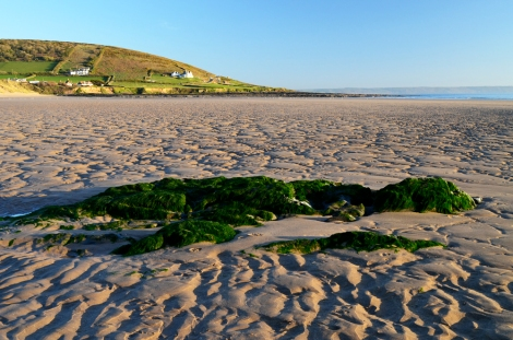 Croyde beach, Devon, England - A summer 2013 morning
