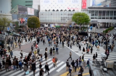 The infinitely busy Shibuya Crossing