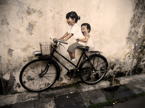 Street art in Penang, Georgetown, Malaysia