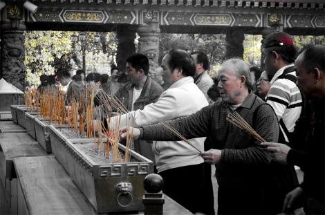 A community at worship - Wong Tai Sin Temple, Hong Kong