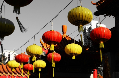 Lanterns at Wong Tai Sin Temple