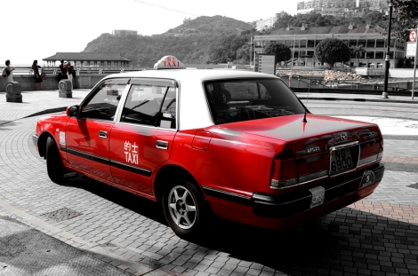 Hong Kong Island taxi in Stanley