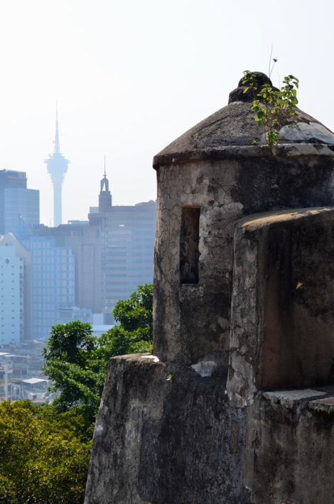 Macau Tower & skyline from Fortaleza do Monte