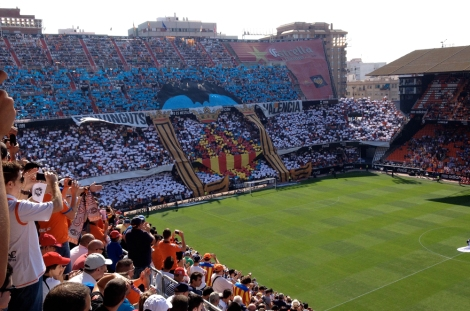 First things first - straight off to Mestalla...