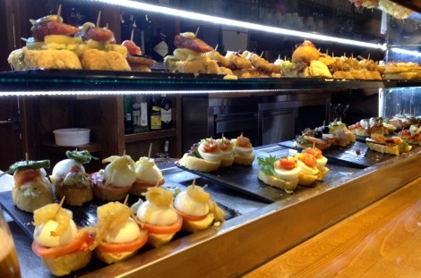 I then spent a chilled Saturday night eating pintxos...