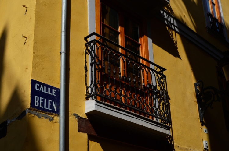 The autumnal Spanish sun was lighting up the warm hues of the city's buildings.